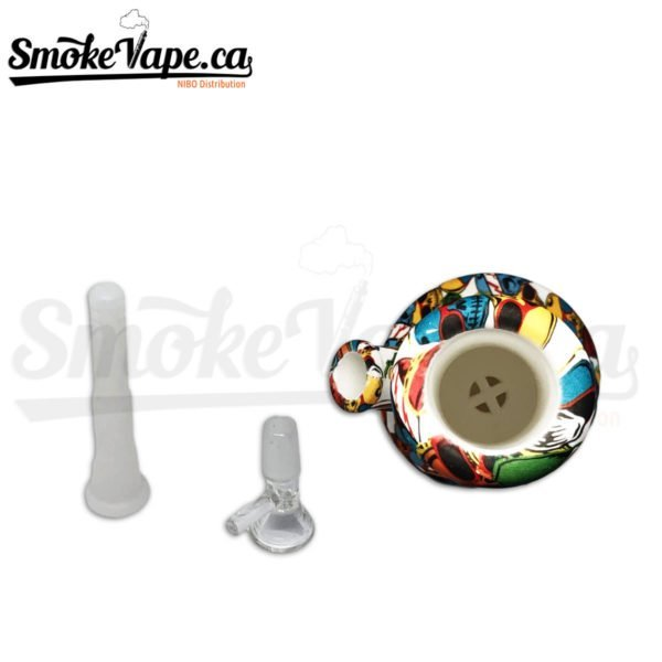 PIP120-Cartoon-Silicone-10inches-tube-water-pipe-1