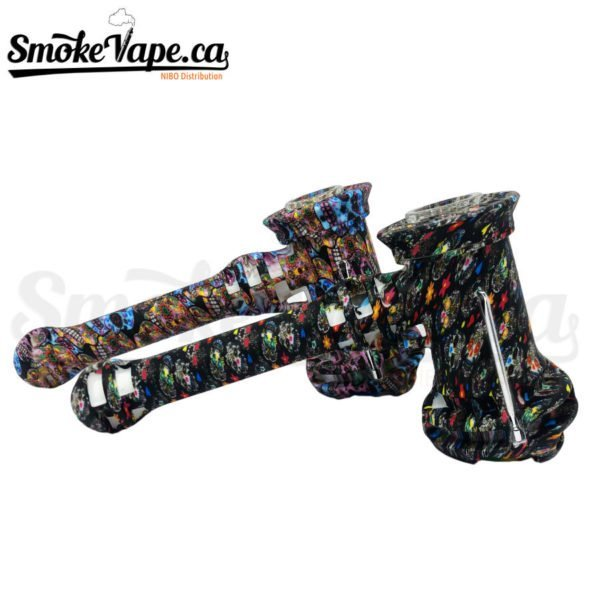 PIP121-8inches-ilicone-Hammer-Bubbler-Dabber-Included-3