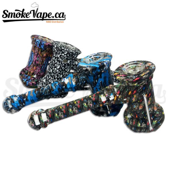 PIP121-8inches-ilicone-Hammer-Bubbler-Dabber-Included